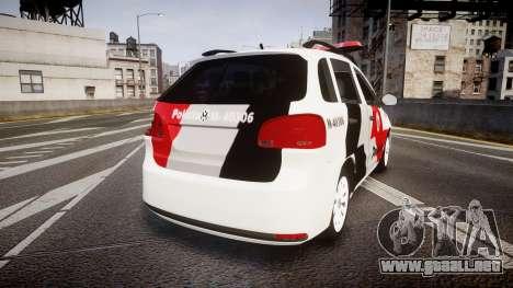 Volkswagen Suran PMESP [ELS] para GTA 4 Vista posterior izquierda