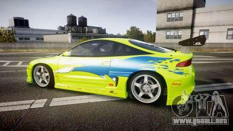 Mitsubishi Eclipse GSX 1995 Furious v3.0 para GTA 4 left