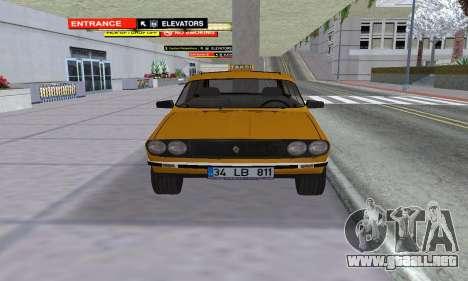 Renault 12 SW Taxi para la visión correcta GTA San Andreas