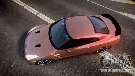Nissan R35 GT-R V.Spec 2010 para GTA 4 visión correcta