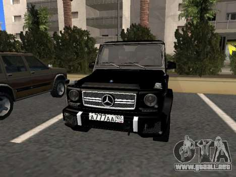 Mercedes-Benz G63 AMG para GTA San Andreas left