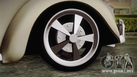 Volkswagen Fusca 1974 para GTA San Andreas vista posterior izquierda