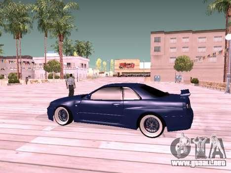 Nissan Skyline para GTA San Andreas vista posterior izquierda