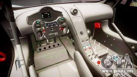 McLaren MP4-12C GT3 Haruhi Itasha para GTA 4 vista hacia atrás