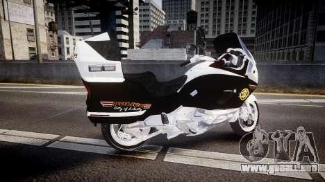 BMW K1200LT Police [ELS] para GTA 4 left