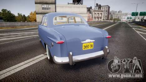 Ford Custom Tudor 1949 v2.1 para GTA 4 Vista posterior izquierda