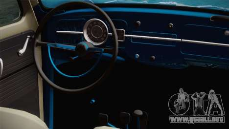 Volkswagen Fusca 1974 para la visión correcta GTA San Andreas