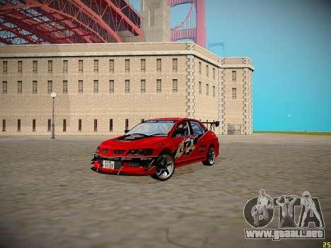 Mitsubishi Lancer Tokyo Drift para visión interna GTA San Andreas