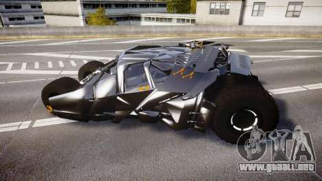 Batman tumbler [EPM] para GTA 4 left