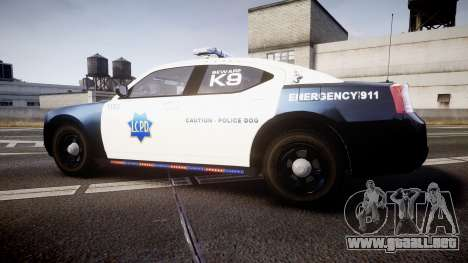 Dodge Charger 2010 LCPD K9 [ELS] para GTA 4 left