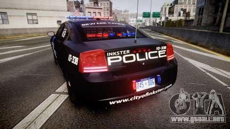 Dodge Charger 2010 Police K9 [ELS] para GTA 4 Vista posterior izquierda