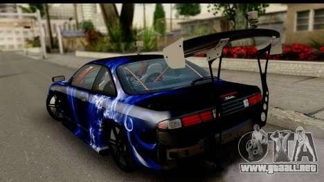 Nissan Silvia S14 Kouki Skin para GTA San Andreas left