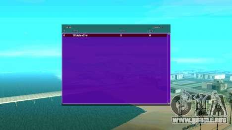 CGSA intercambio Automático SampGui para GTA San Andreas segunda pantalla