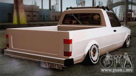 Volkswagen Caddy DRY Garage para GTA San Andreas left