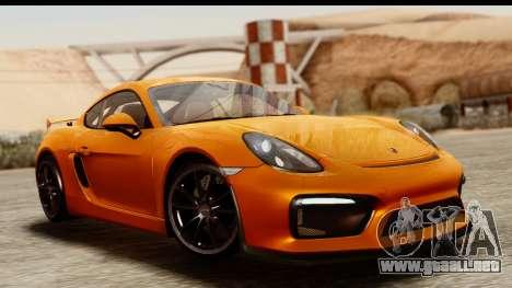 Porsche Cayman GT4 981c 2016 para GTA San Andreas