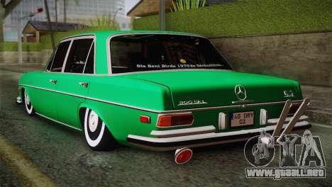 Mercedes-Benz 300 SEL DRY Garage para GTA San Andreas left