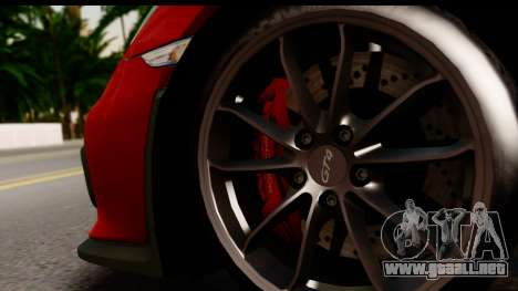Porsche Cayman GT4 981c 2016 para visión interna GTA San Andreas