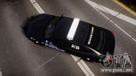 Dodge Charger 2010 Police K9 [ELS] para GTA 4 visión correcta