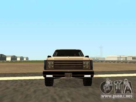 Rancher Four Door para la visión correcta GTA San Andreas