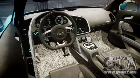 Audi R8 Tron Legacy [EPM] para GTA 4 vista hacia atrás
