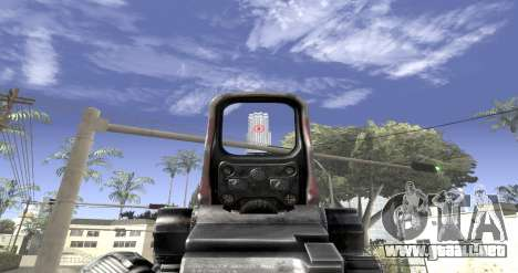 Sniper scope mod para GTA San Andreas tercera pantalla