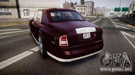 Rolls-Royce Phantom EWB v3.0 para GTA 4 Vista posterior izquierda