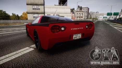 Invetero Coquette Spec-R1 para GTA 4 Vista posterior izquierda