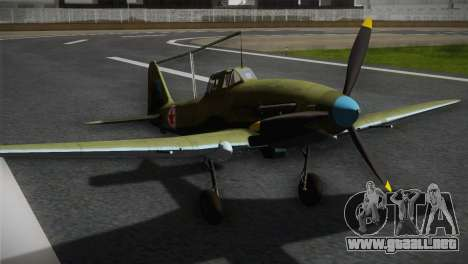 ИЛ-10 de la Fuerza Aérea de corea para GTA San Andreas vista hacia atrás