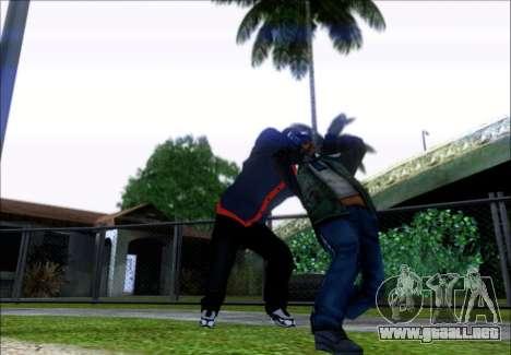 Franklin (el Ladrón) de GTA 5 para GTA San Andreas tercera pantalla