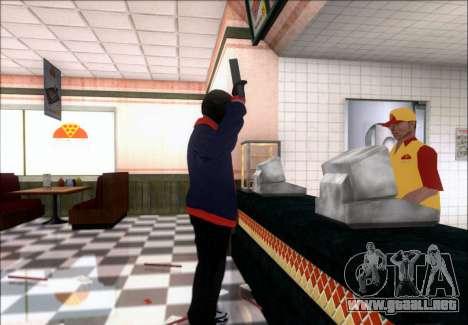 Franklin (el Ladrón) de GTA 5 para GTA San Andreas sucesivamente de pantalla