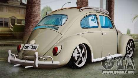 Volkswagen Fusca 1974 para GTA San Andreas left