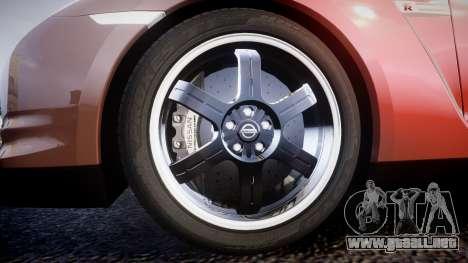 Nissan R35 GT-R V.Spec 2010 para GTA 4 vista hacia atrás