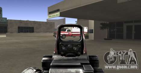Sniper scope mod para GTA San Andreas segunda pantalla