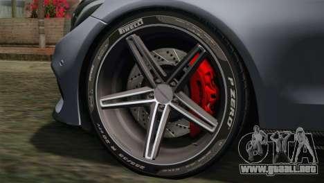 Mercedes-Benz C250 AMG Edition 2014 SA Plate para GTA San Andreas vista posterior izquierda