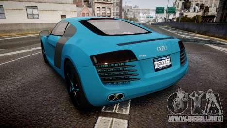 Audi R8 Tron Legacy [EPM] para GTA 4 Vista posterior izquierda