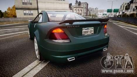 Benefactor Feltzer V8 Sport para GTA 4 Vista posterior izquierda