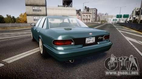 GTA V Vapid Stanier new wheels para GTA 4 Vista posterior izquierda