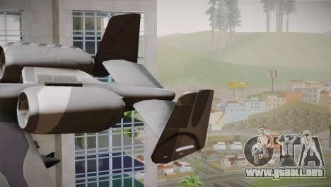A-10A The Idolmaster -SP- para GTA San Andreas vista posterior izquierda