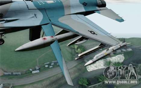 F-16C Fighting Falcon Aggressor BlueGrey para la visión correcta GTA San Andreas