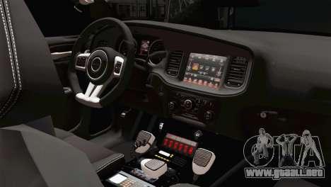 Dodge Charger 2013 LSPD para la visión correcta GTA San Andreas
