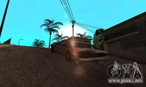 New Effects Paradise para GTA San Andreas sucesivamente de pantalla