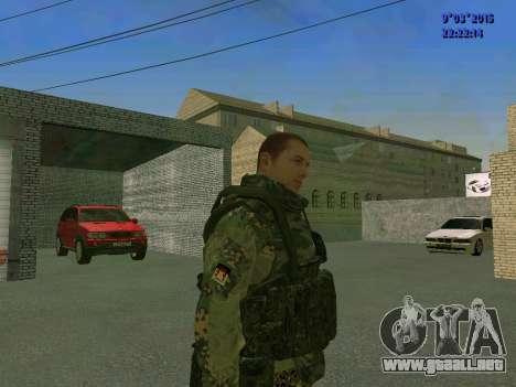 Un luchador de Esparta batallón para GTA San Andreas segunda pantalla