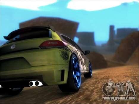 Volkswagen Scirocco Tunable para GTA San Andreas vista posterior izquierda
