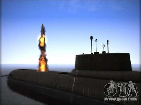 NPS proyecto 941 Akula para GTA San Andreas tercera pantalla
