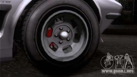 GTA 5 Invetero Coquette Classic HT SA Mobile para GTA San Andreas vista posterior izquierda
