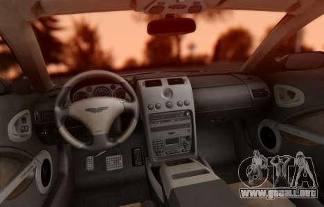Aston Martin V12 Vanquish 2001 v1.01 para visión interna GTA San Andreas