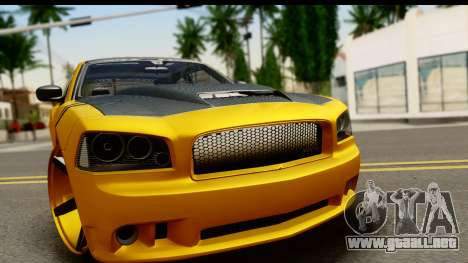 Dodge Charger SRT8 2006 Tuning para GTA San Andreas vista posterior izquierda