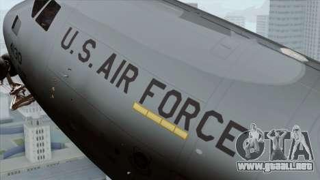 C-17A Globemaster III USAF McGuire para la visión correcta GTA San Andreas