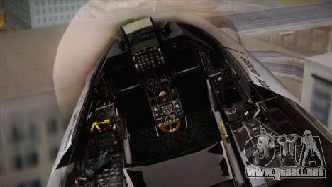 F-16 Fighting Falcon RNLAF Solo Display J-142 para GTA San Andreas vista hacia atrás