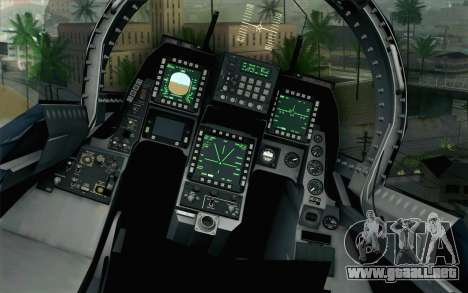 F-2A Viper 60th Anniversary of JASDF para GTA San Andreas vista hacia atrás